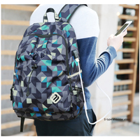 ECOPARTY Men Women Material Quality Brand Laptop Bag School Backpack Backpack Student College Waterproof Nylon Backpack
