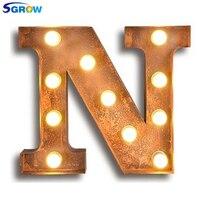 SGROW Metall Brief N Wand Lampe Licht für Schlafzimmer Wohnzimmer Kunst Lampara Industrie Kreative Lichter Logo N Eisen Billboard lampen