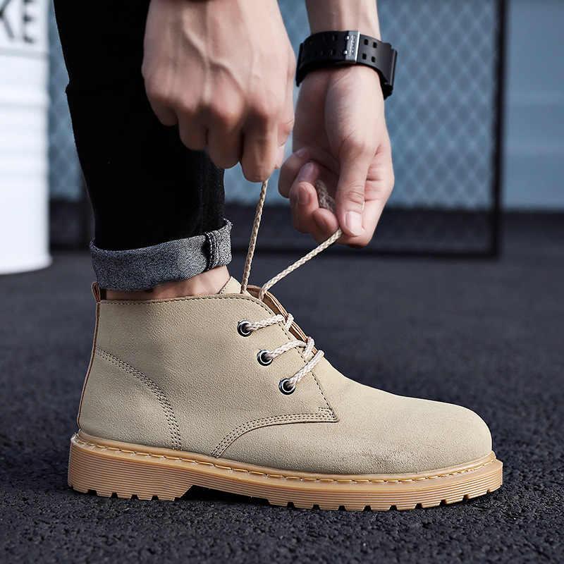 IPCCM/2018 г. зимняя модная дикая большая обувь Мужская обувь в стиле ретро с высоким берцем Корейская версия тренда уличных мужских ботинок