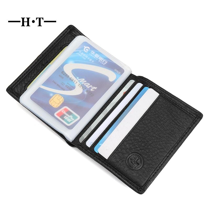 Aliexpress.com : Buy HT Genuine Leather Short Wallet Mens