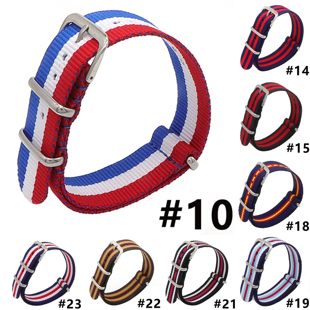 Top Kwaliteit 18mm 20mm 22mm Navy Wit Rood Diver 3 Guardian Navo Nylon Band Horloge