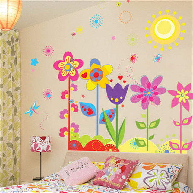 Diy Karton Sonne Blume Libelle Wandaufkleber Mädchen Junge Kinderzimmer  Schlafzimmer Kindergarten Wandgestaltung Kunst Wohnkultur Interio