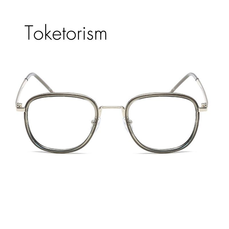 Toketorism gafas de oro marcos retro gafas transparentes para hombre ...