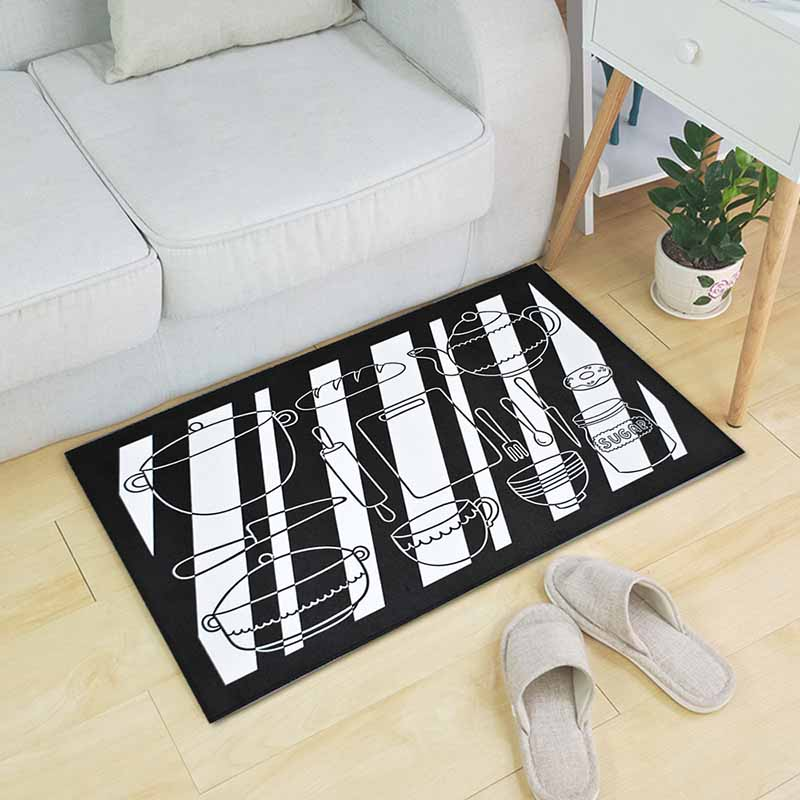 Washable Kitchen Mats with Anti Slip Bottom for Kitchen and Hallway Entrance Floor 25