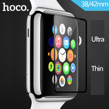 Original HOCO 0.1mm Ultra Thin Tempered Glass for Apple Watch Full Covered 42mm 38mm Screen Glass Protector for iWatch