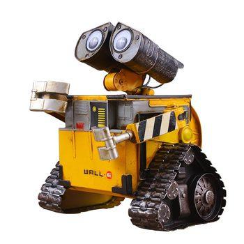 Antique Metal Tin Model Wally WALL-E Money Storage Tank Handicraft Creative Home Decoration Ornaments for Newlyweds