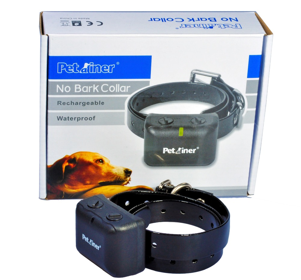 Dog No Barking Training Collar Shock Control Anti Bark Rechargeable Waterproof dog care training collar