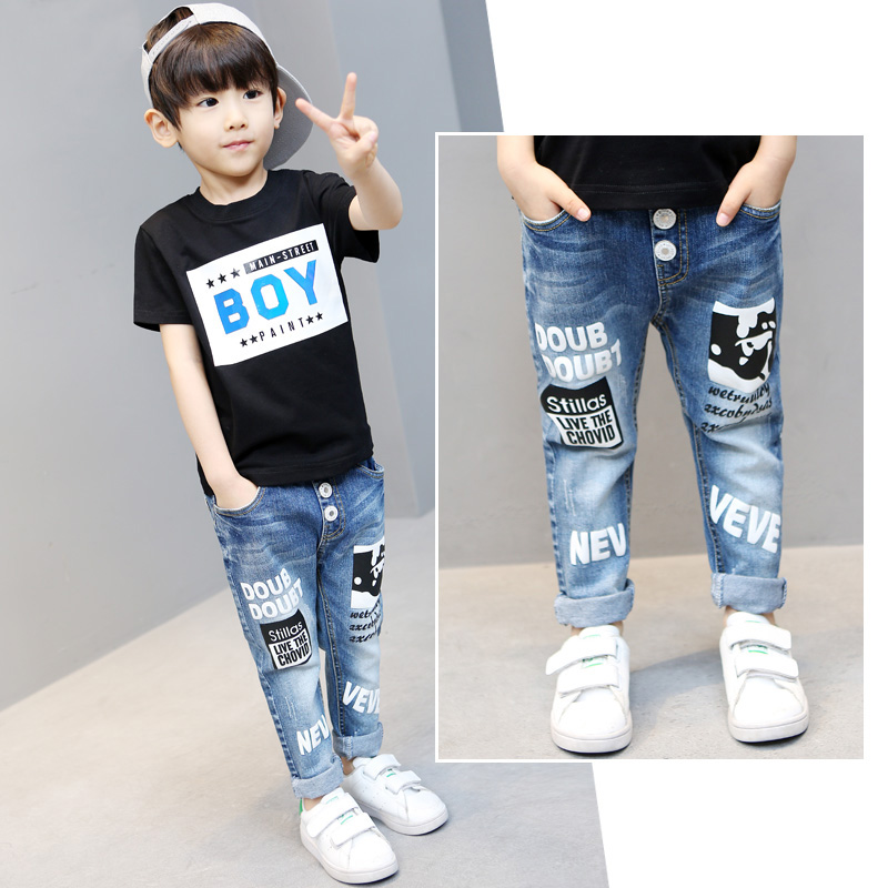 Pants Jeans Trousers Baby-Boys Kids Children Leggings Autumn Spring Cotton Casual Pencil title=