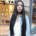 Sexy Fashion Long Straight Hair Wigs Heat Resistant Cosplay Drag Queen Wig For Black Women Perruque Hairpiece Halloween