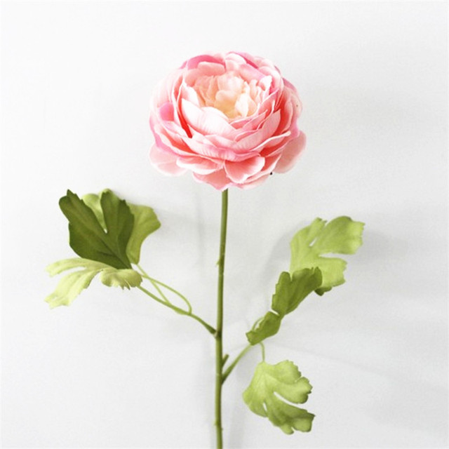6pcs Light Pink Peony Artificial Flowers Bouquet Silk Rose Bridal Wedding Decoration Mariage Flower Home Ac