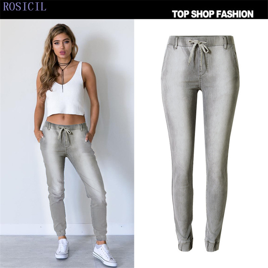 ROSICIL Jeans Sale New Arrival Button 2017 Fashion Jeans Women Pencil Pants Low Waist Sexy Slim Elastic Skinny Trousers TOP103# 2016 spring new arrival women fashion high waist skinny denim pencil pants femme elastic sexy slim jeans brand casual trousers
