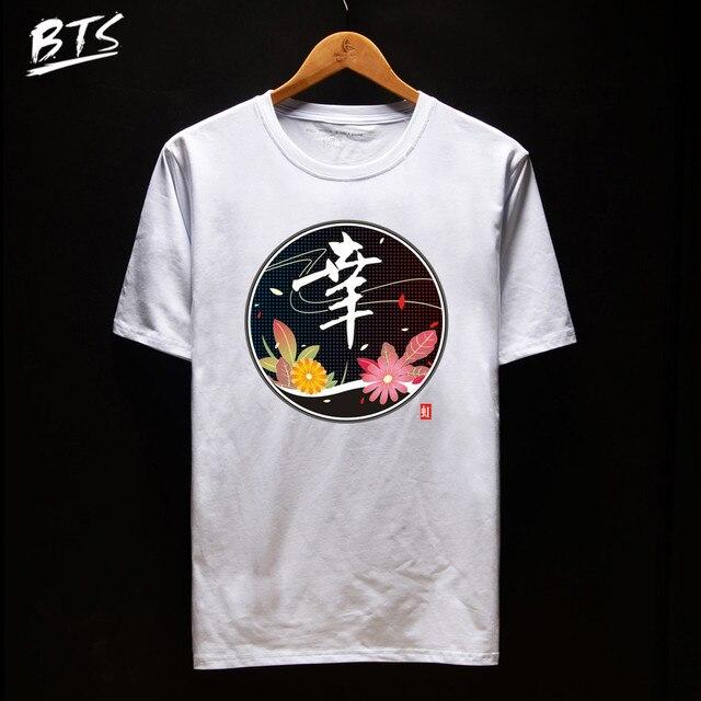 Bts Chinese Character T Shirt Women Summer Female T Shirt Soft
