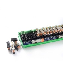 32-way original Omron relay module, compatible with NPN/PNP one open and one closed PLC dedicated interface цена