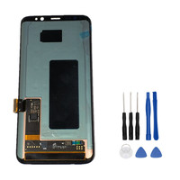 100 Tested Working Replacement For Samsung S8 G950F G950U G950W8 Super AMOLED LCD Display Touch Screen