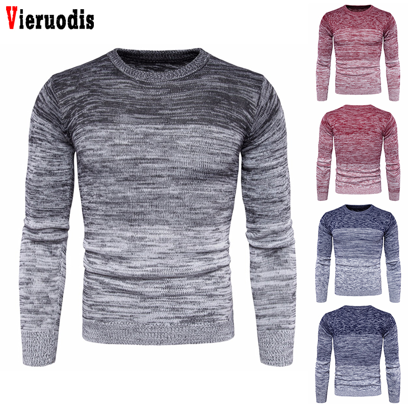 Autumn Winter Clothing New Men's Round Neck Warm Sweater  Plus Size M-3XL Fashion Men Long Sleeve Pullover Sweater For Male