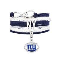 Skyrim New 2017 NY Football Logo Bracelet Jewelry