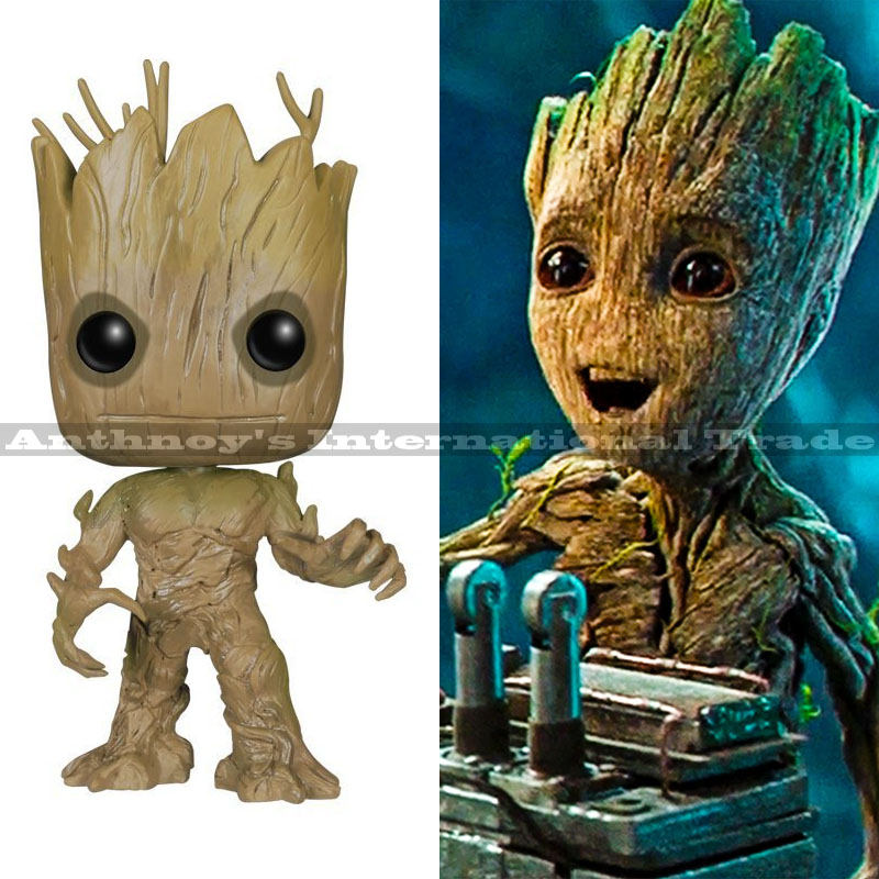 9CM Funko Pop Groot Guardians of the Galaxy Vol. 2 action figures groot baby models movie toys for kids birthday christmas gift new funko pop guardians of the galaxy tree people groot