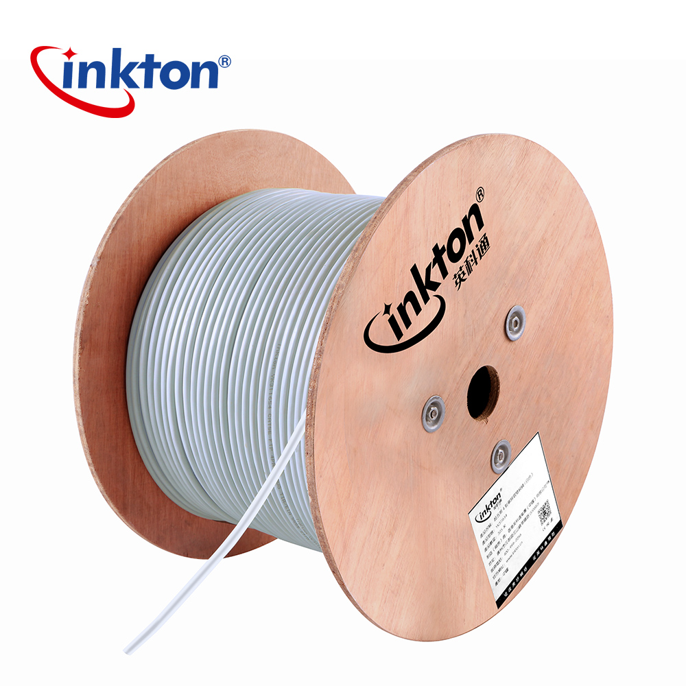 Inkton High Quality Cat5e FTP Shielding Ethernet Cable High Speed Pure Copper 4 Pairs Twisted Shielding Network Wiring 1m/20m