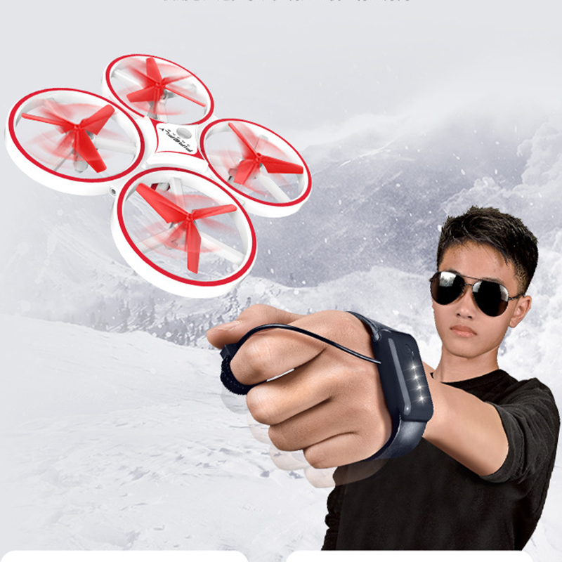 ZF04 RC Mini Quadcopter Induction Drone Smart Watch Remote Sensing Gesture Aircraft UFO Hand Control Drone  Altitude Hold  Kids 2