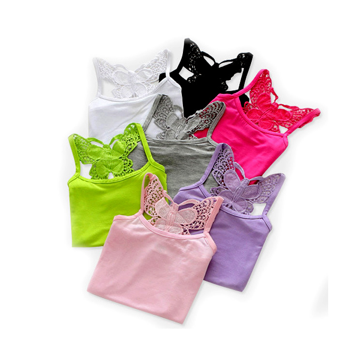 6d347d8ac9e9 Lace Girls Shirts Cotton Girl Underwear Bow Tops For Kids Singlets Summer  Children Undershirts Baby Tees-in Tees from Mother & Kids on Aliexpress.com  ...