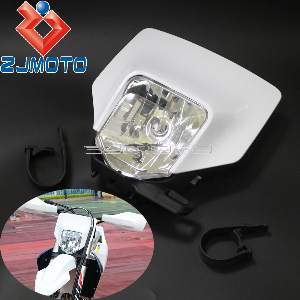 Dirt Bike Headlight Fairing For Husqvarna FE TX TE 125 150 250 300 350 450 501 701 Supermoto Motocross Headlamp 2017 2018 2019