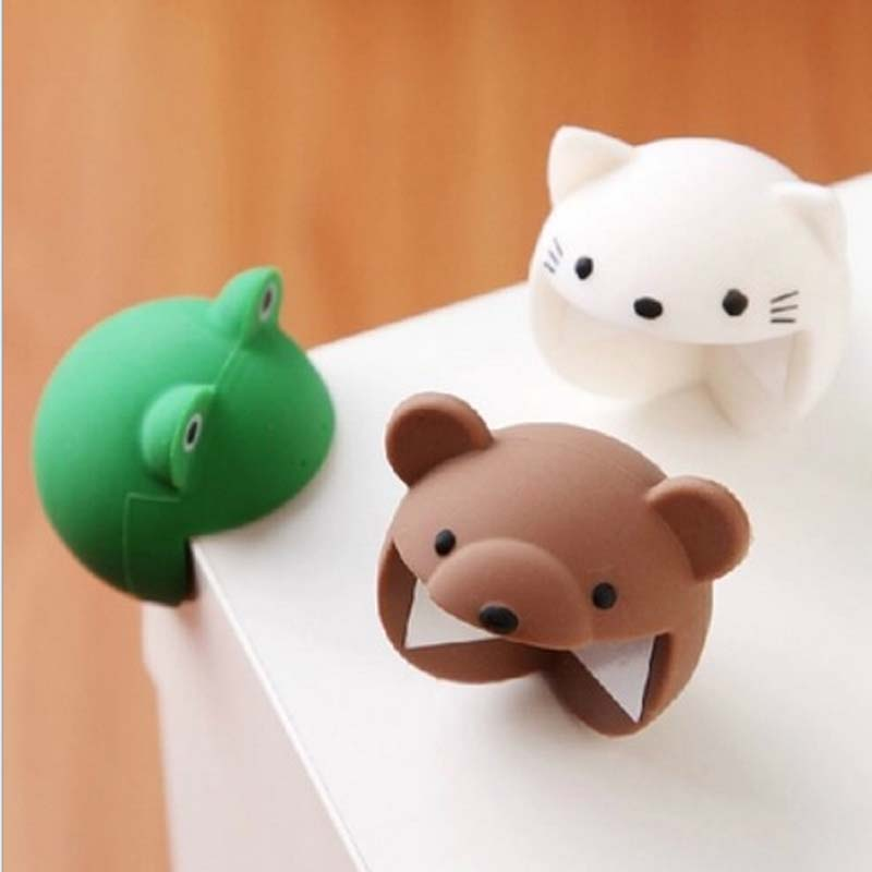 Edge Cover 4pcs/set Cute Cartoon Soft Silicone Animal Shaped Table Corner Protector Cushion Kids Baby Care Desk Baby Safe