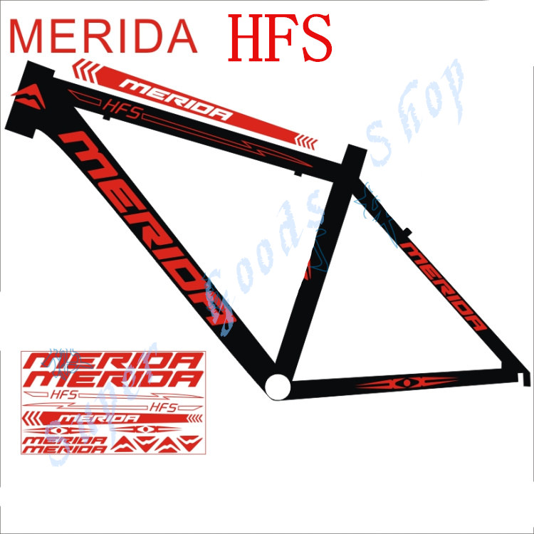 high end road bike mountain frame decal bisiklet aksesuar for merida hfs reflective sticker light
