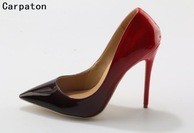fd72f599141 Carpaton new fashion sexy pumps pointed toe high heel beautiful color light  stilettos heels Autumn casuals shoes for women heels