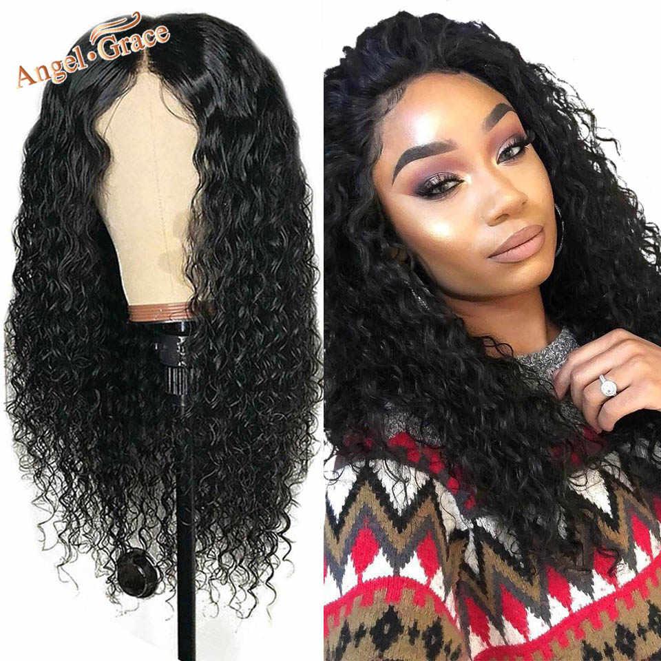 Перуанские глубокая волна Синтетические волосы на кружеве парик для женщин черный натуральный Реми парики из натуральных волос на кружевной основе бразильские волнистые волосы 13x4 Синтетические волосы на кружеве парики