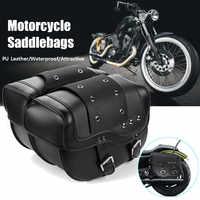 2 stücke Universal PU Leder für Harley Sportster XL883 XL1200 Motorrad Sattel für Honda für Suzuki für Kawasaki für Yamaha
