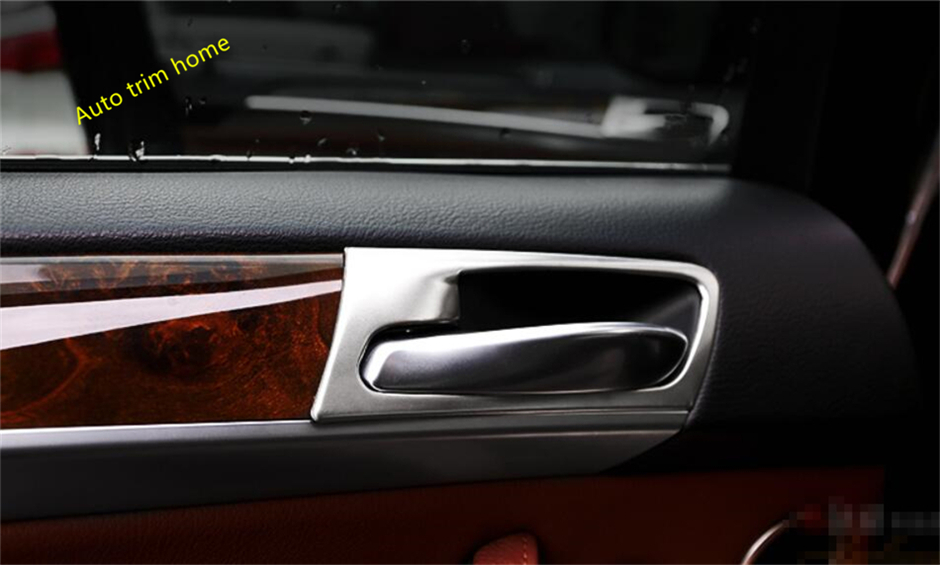 For BMW X5 E70 2009 - 2013 / X6 E71 2010 - 2014 Stainless Steel Inner Door Side Handle Bowl Molding Garnish Cover Trim 4 pcs accessories fit for 2013 2014 2015 2016 hyundai grand santa fe side door line garnish body molding trim cover