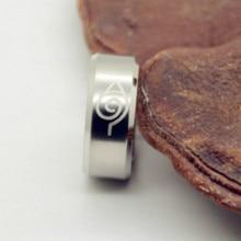 Naruto Stainless Steel Black Titanium Steel Ring