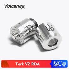 Volcanee Terk V2 Atomizzatore RDA Terkv2 Ricostruibile Gocciolamento Serbatoio Vape per Sigarette E Mech Mod Vaper Vaporizzatore