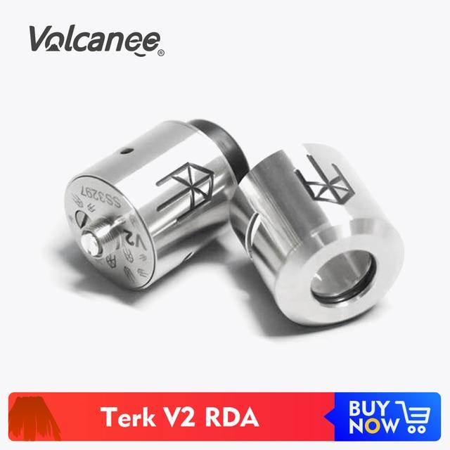Volcanee Terk V2 분무기 RDA Terkv2 Rebuildable Drip Tank Vape for E 담배 Mech Mod Vaper Vaporizer