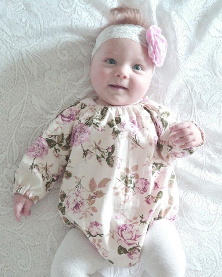 Весенние и осенние детские с длинным рукавом пара маленьких Симпатичный хлопковый комплект для девочек в цветочек женские пляжное платье