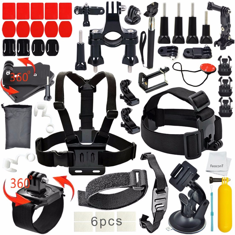 FeoconT Basic Common Outdoor Sports Kit Ultimate Combo Kit 40 accessories for GoPro HERO 4/3+/3/2/1 common common like water for chocolate 2 lp