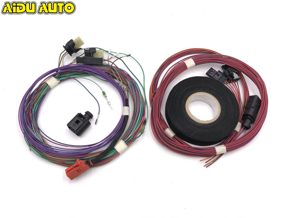 USE FIT FOR Golf 6 Jetta Mk6 Auto Intelligent Parking Assist 12K Park Assist Pla 2 .0 Upgrade OPS Install Harness Wire intelligent auto parking assist park assist pla 2 0 for vw passat b7 cc 3aa 919 475 s 8k to 12k