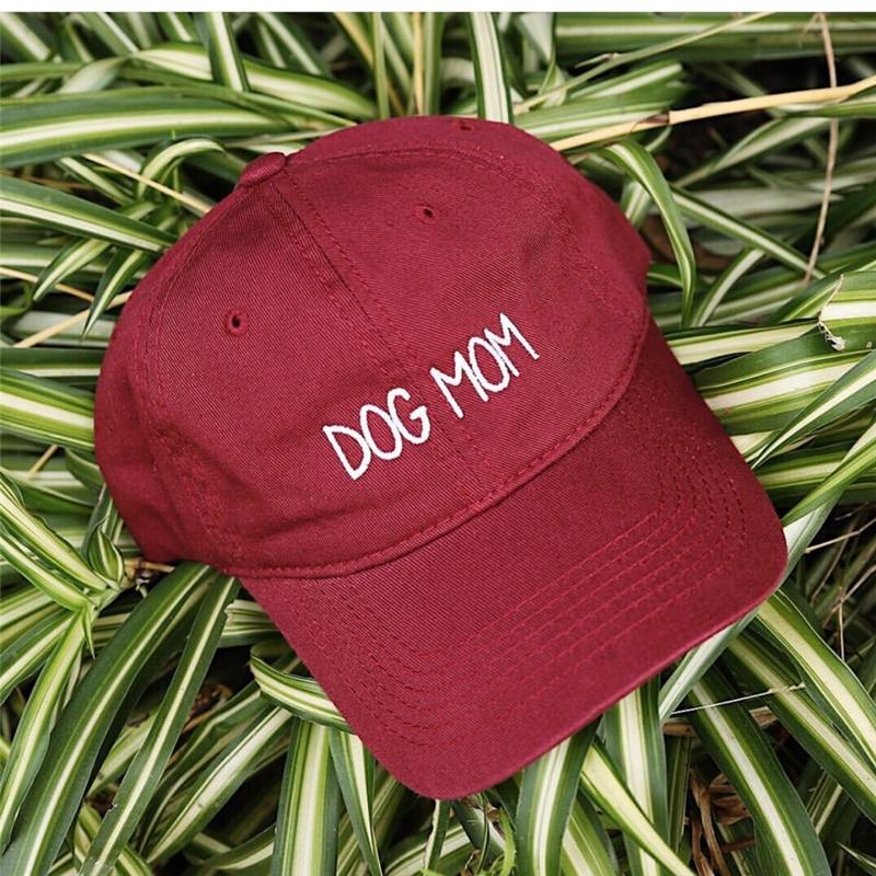 2018 new DOG MOM Embroidered Adjustable golf Cap cotton adjustable Dad Hat solid baseball cap unisex Hip-hop hats snapback cap