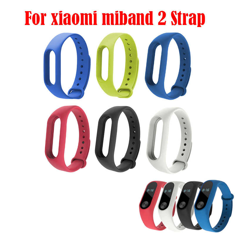 Colorful Silicone For Xiaomi Wrist Strap Wristband Bracelet Watchband For Xiaomi Band 2 Miband Mi Band Ban 2 Charge Cable