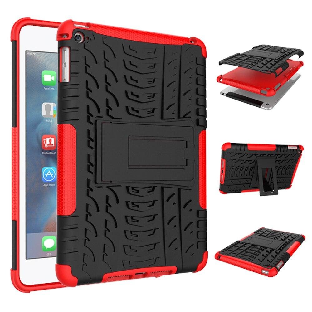 Amorheavy Duty Kickstand Back Tab Cover For Ipad Mini4 Case