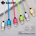 KALUOS 8pin USB Data Sync Charge Cable For iPhone 5 5S 5C 6S Plus iPad 4 mini 2 Air 2 iOS9 Fast Charging Cord Phone Charger Wire