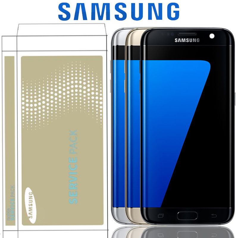 Original 5 5 Super AMOLED LCD Replacement For Samsung Galaxy S7 edge LCD WITH FRAME G935