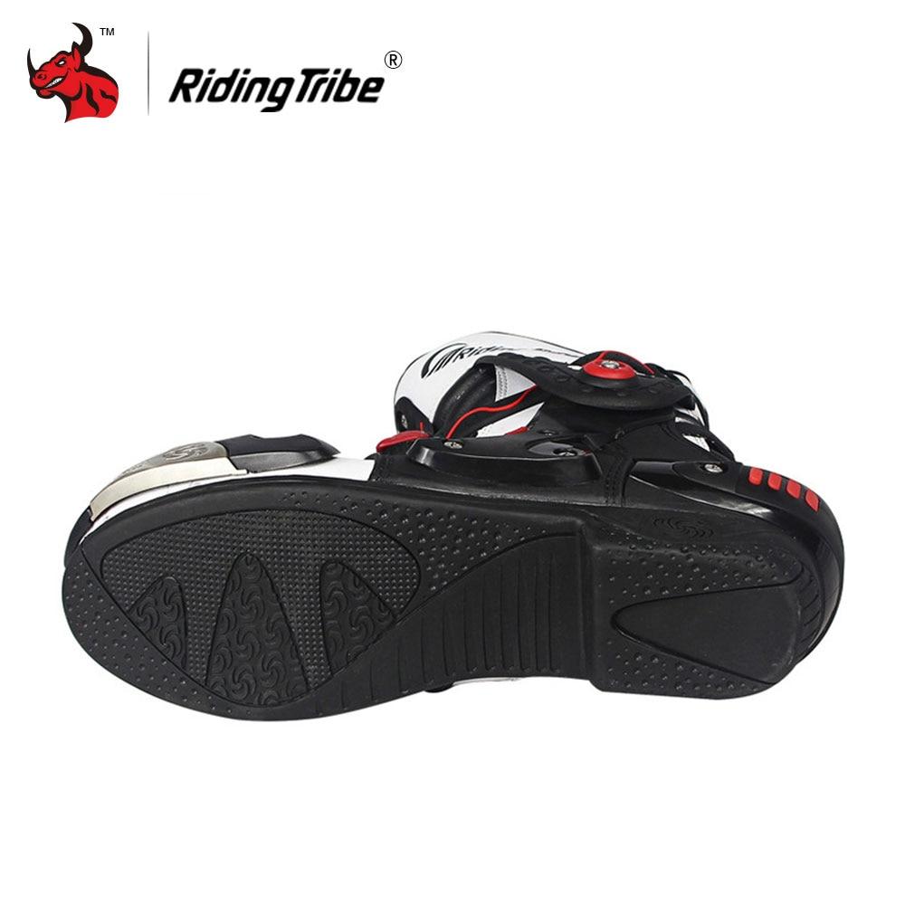 Riding tribe vitesse bikers moto bottes moto racing motocross off road moto chaussures  noir rouge blanc dans Bottes de moto de Automobiles et Motos sur ...