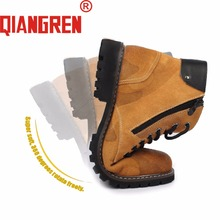 QIANGREN High-grade Quality Military Factory-direct Mens Genuine Leather Rubber Camouflage Boots Autumn Work Outdoor Shoes Botas