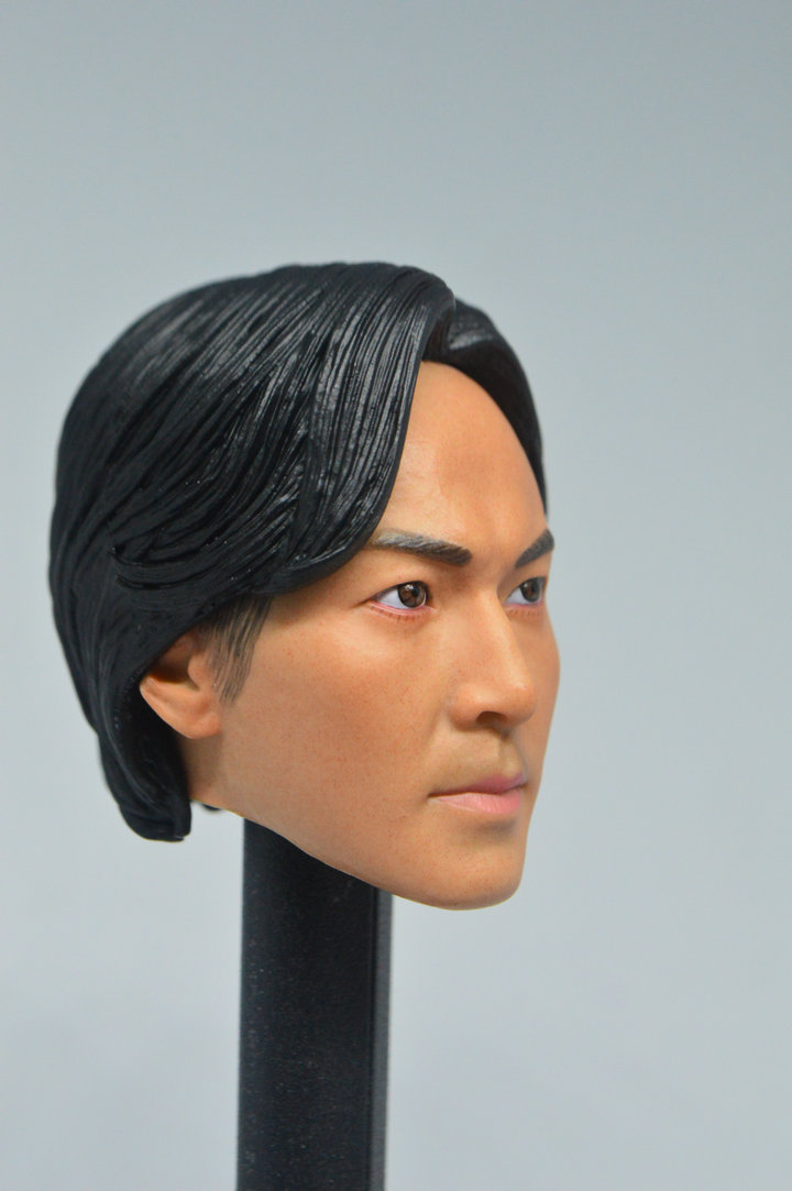 "1//6 Scale Asian Star Ekin Cheng Head Sculpt Carving Model F 12/"" Male Figure Toys"