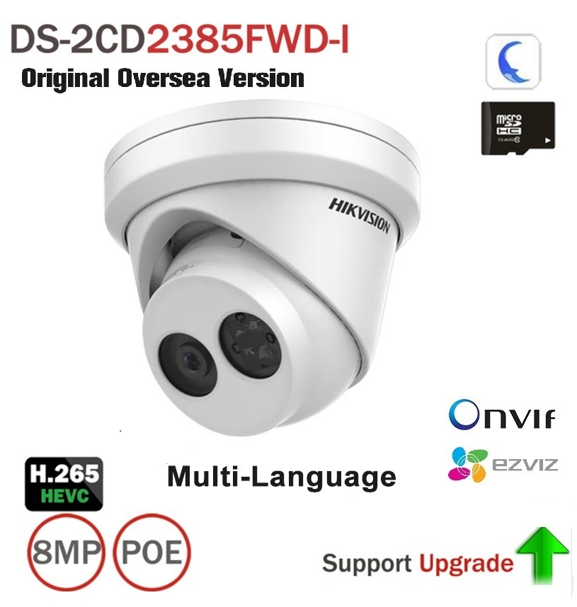 Hikvision DS-2CD2385FWD-I Multiple Language Turret 4K 8MP Outdoor Camera IP67 Support ONVIF, HIK-Connect cd диск fleetwood mac rumours 2 cd
