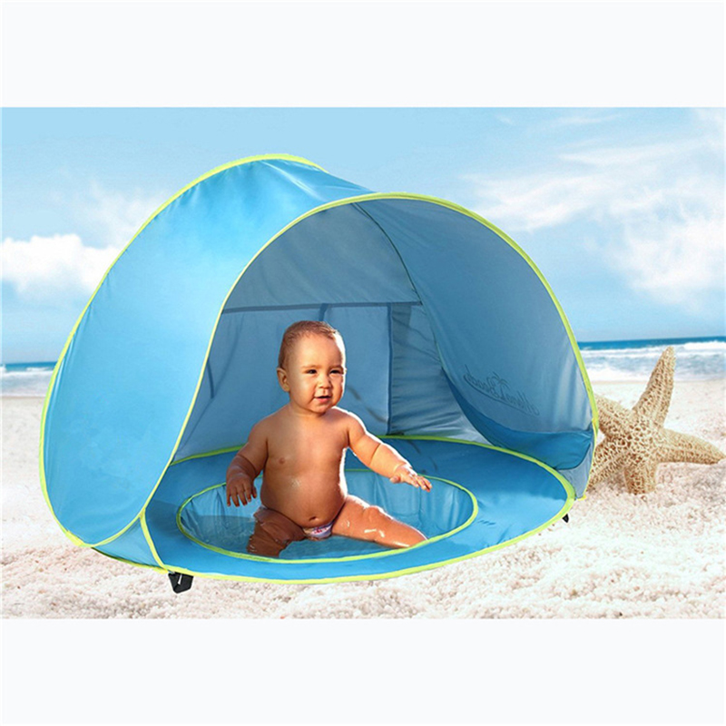 Baby Swimming Pool With Tent Beach Outdoor Sunshade Baby Pool Shaded Kids Summer Swim Pool Water Fun Accessories Tent Kids Games