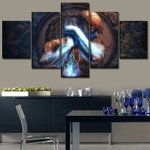 5 Pieces Sub-Zero Movie Mortal Kombat Canvas Painting Wall Art Home Decorative Modern Printed Modular Pictures Artwork Poster