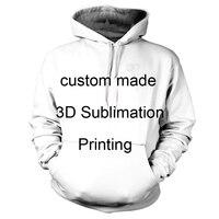 실제 미국 미국 크기 사용자 자신의 3D 승화 인쇄 후드/후드 플러스 사이
