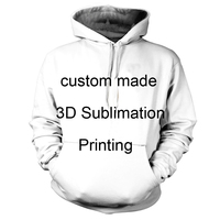 Custom Create Your Own 3D Sublimation Print Hoody Hoodies REAL USA SIZE Plus Size